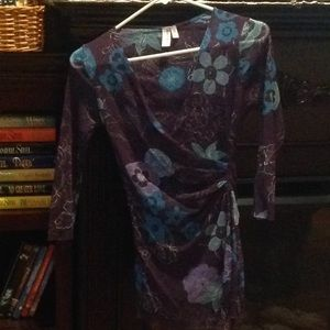 Sweet pea by Stacy frati sheer floral top size: m
